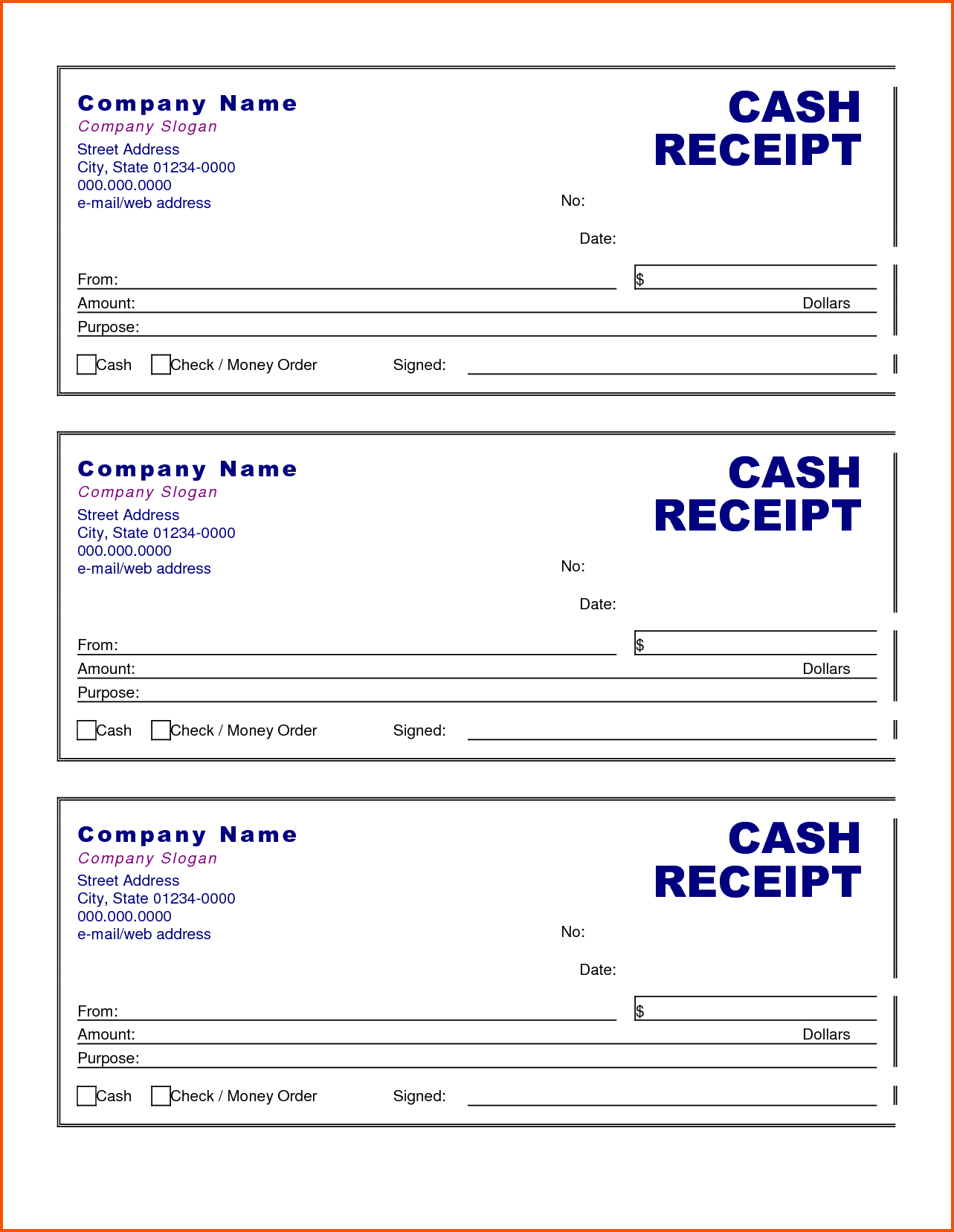 Company Invoice Template Excel and Cash Receipt Template Selimtd