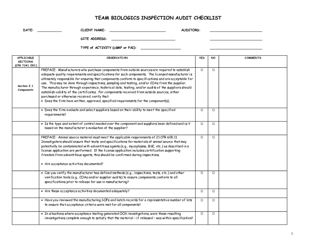 Compliance Audit Report Sample and Audit form Template Masir
