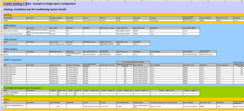 Components Of A Spreadsheet and K2n Energy Reporting Optimisation System
