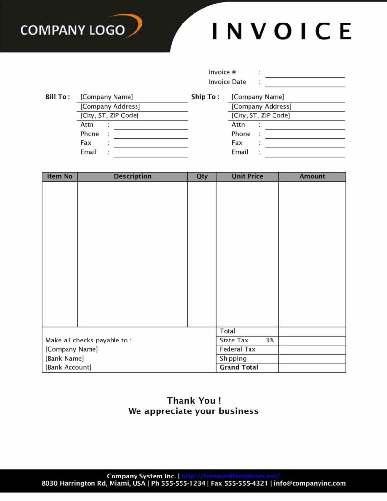 Contractor Invoice Samples and 100 Construction Pany Invoice Template 8 Excel order form