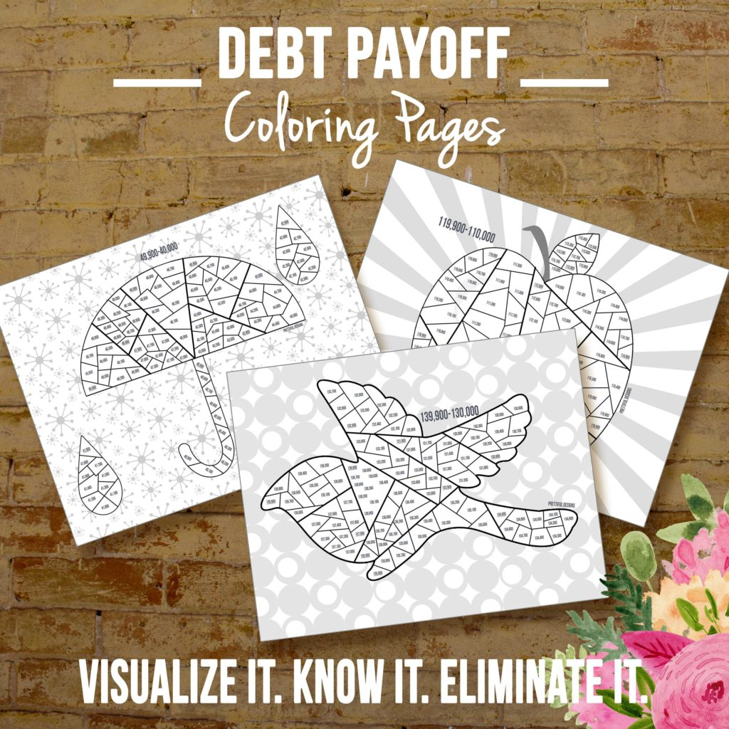 Credit Card Debt Payoff Spreadsheet and Financial organizer Debt Payoff Coloring Pages