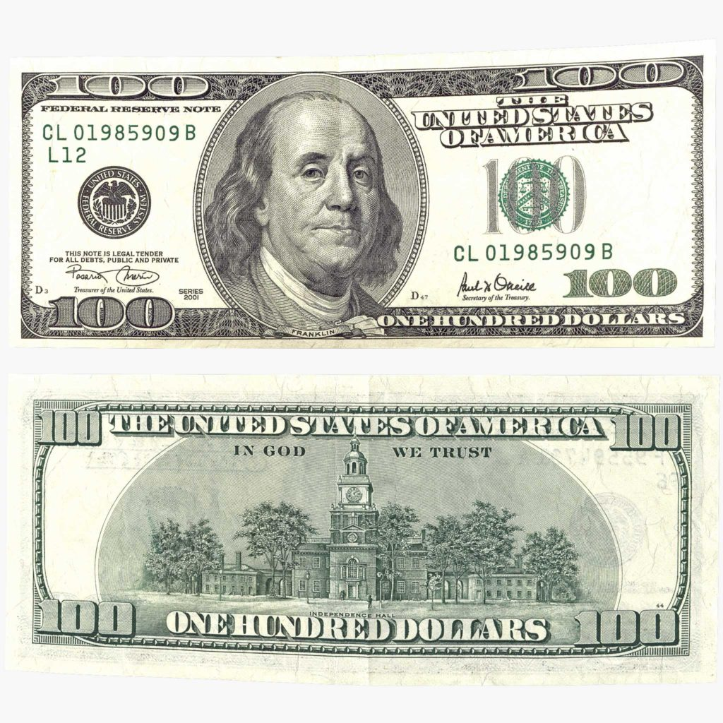 Custom Dollar Bill Template and One Hundred Dollar Bill 3d Models Turbosquid