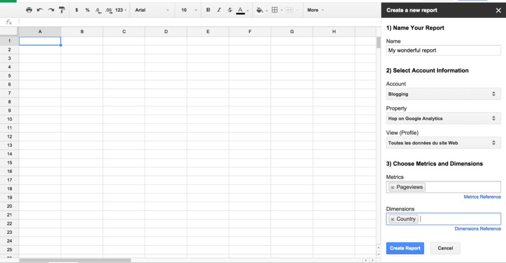 Data Analysis Spreadsheet and Analytics Dig Your Data with Google Analytics Spreadsheet Add On
