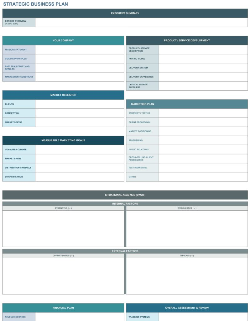 Data Mapping Template Excel and 9 Free Strategic Planning Templates Smartsheet