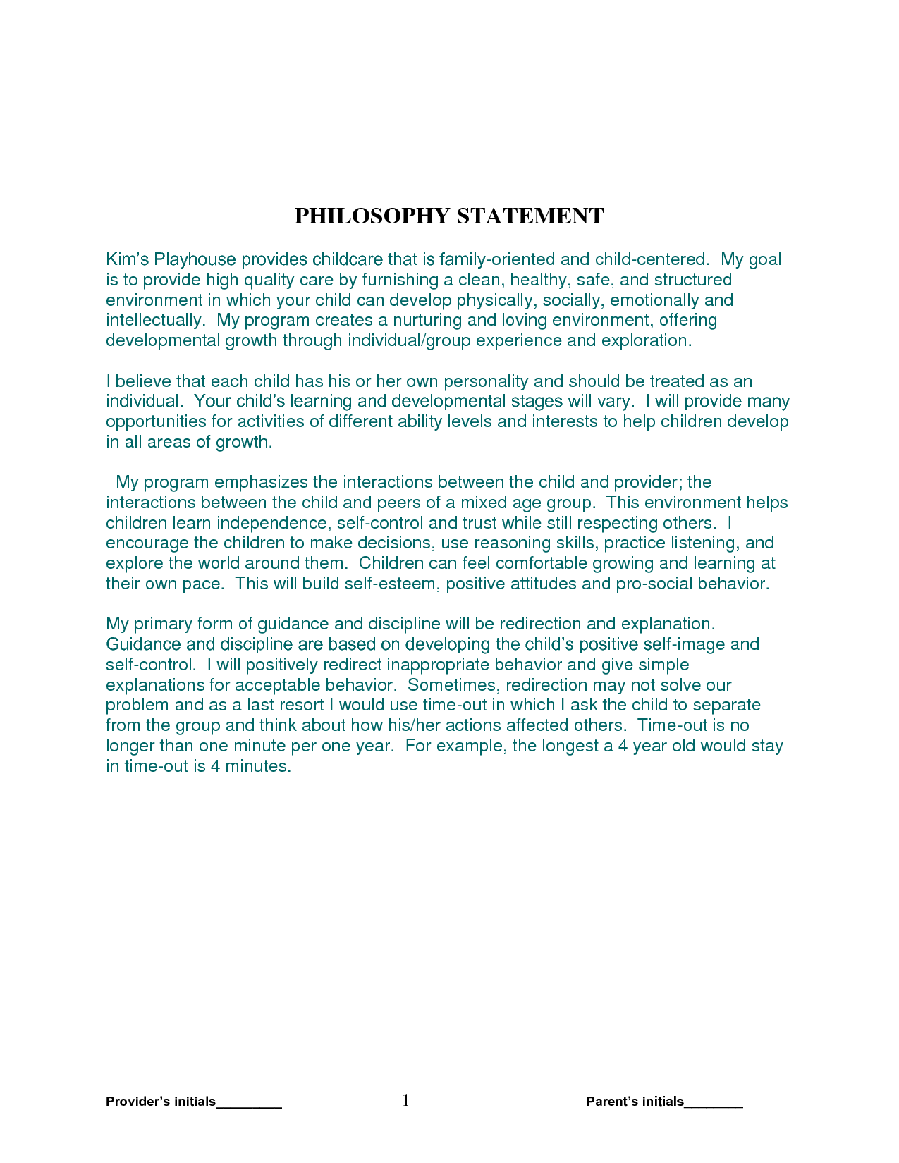 Day Care Philosophy Statement Examples and Teaching Philosophy Examples Business Graduate assistant Resume