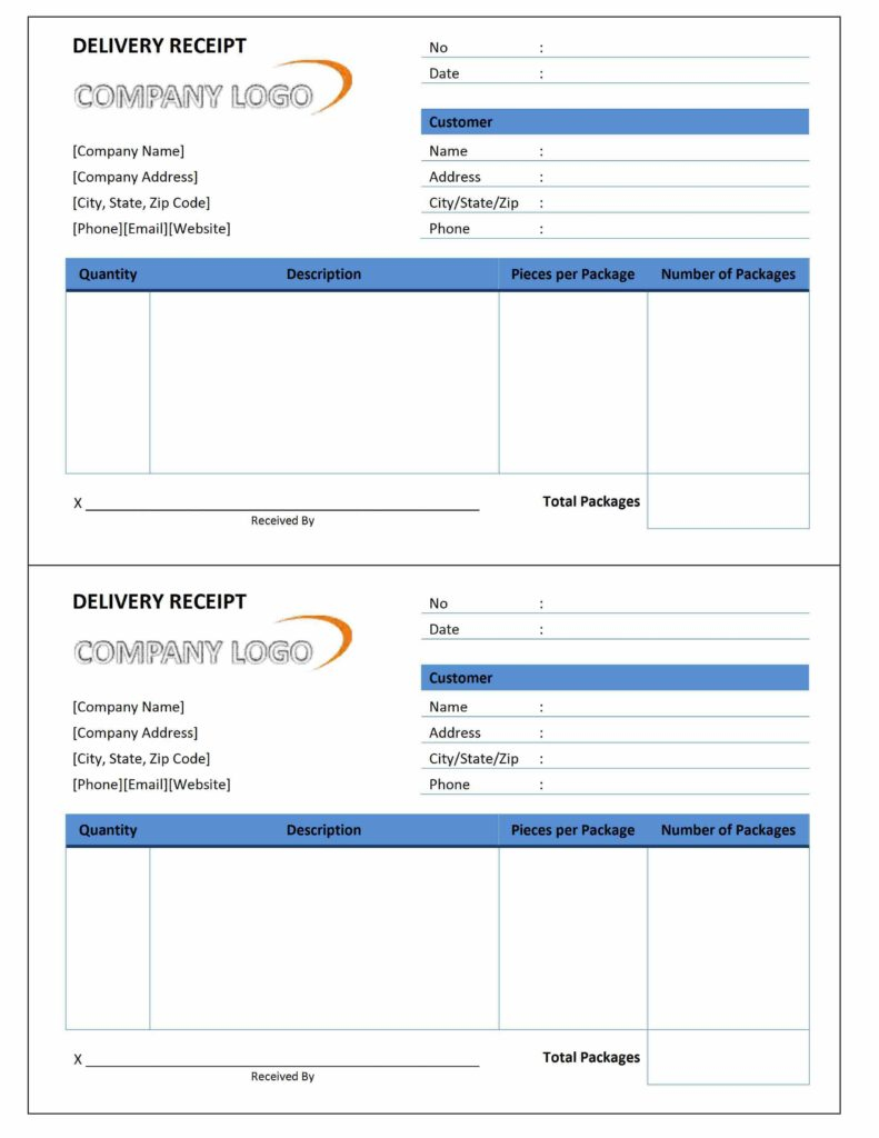 Delivery Invoice Template and Delivery Receipt Freewordtemplates
