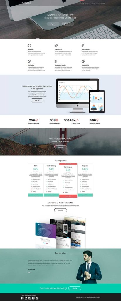 Digital Marketing Report Template and Digital Marketing Agency Website Template