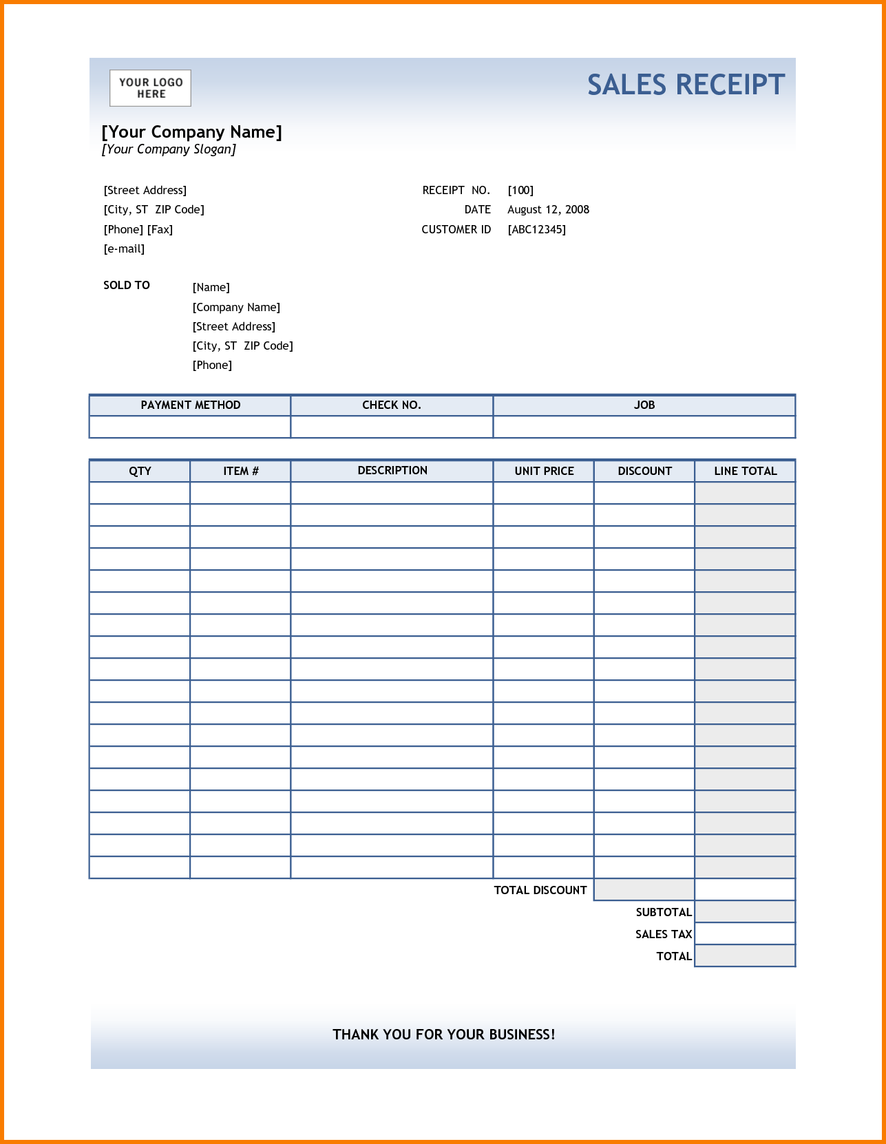 Doctor Invoice Template and 7 Excel Receipt Template Receipt Templates