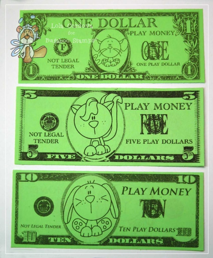 Dollar Bill Coupon Template and Little Card Maker Funny Money