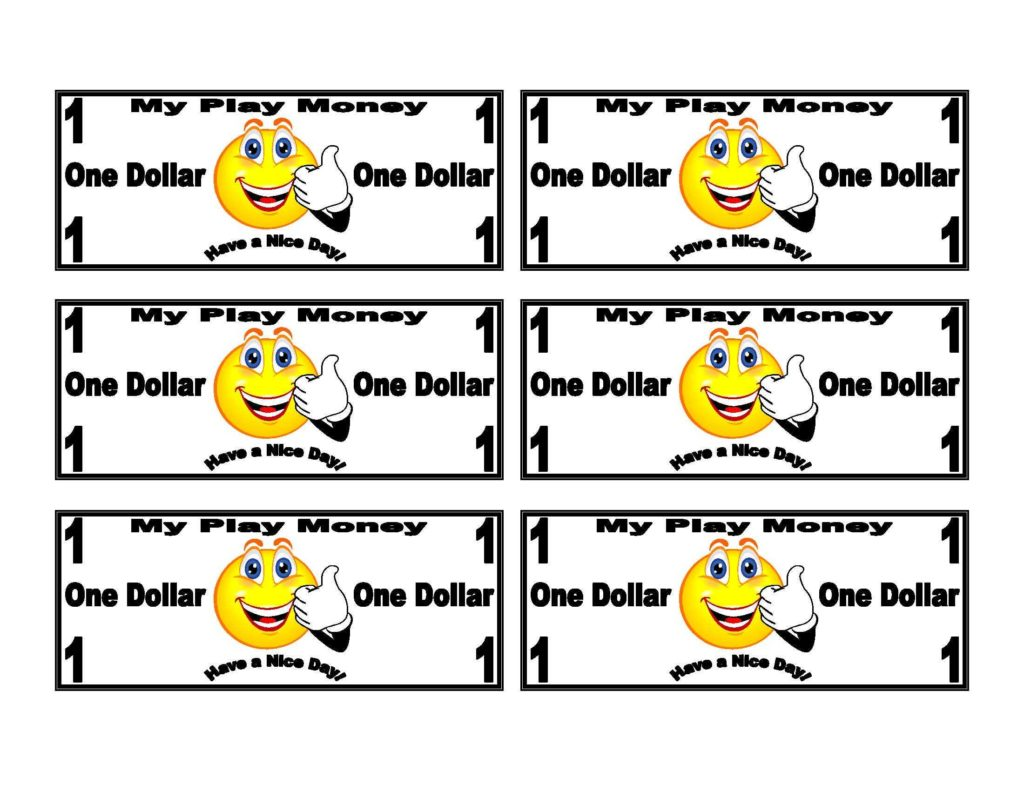 Dollar Bill Coupon Template and Smiley Face On Dollar Bill Play Money Templates Smiley Liked