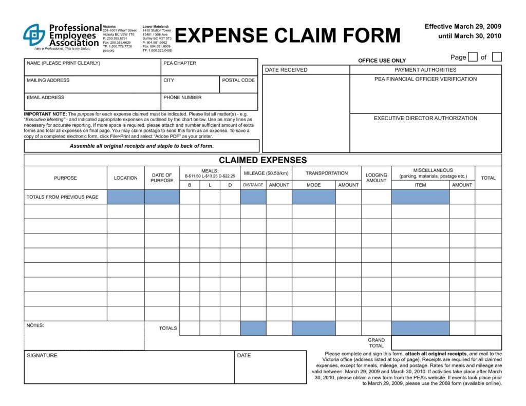 Employee Expense Reimbursement Policy Sample and Expense Reimbursement form Excel It Resume Cover Letter Sample
