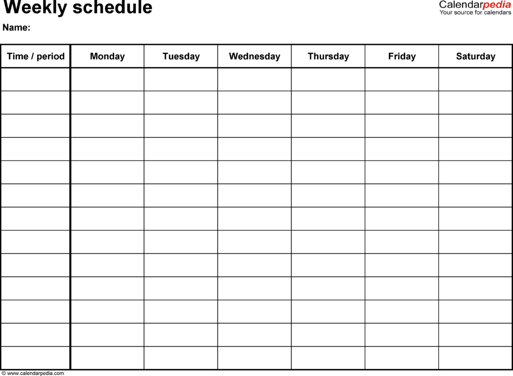 Employee Shift Scheduling Spreadsheet and Free Weekly Schedule Templates for Excel 18 Templates