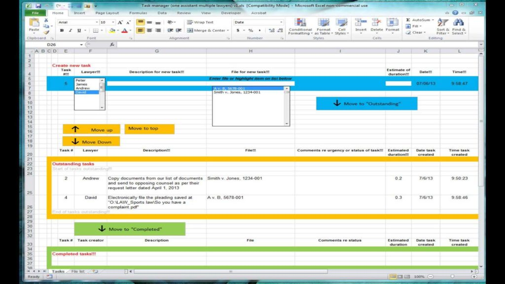 Employee Time Tracking Spreadsheet and Excel Spreadsheet for Tracking Tasks Shared Workbook Youtube
