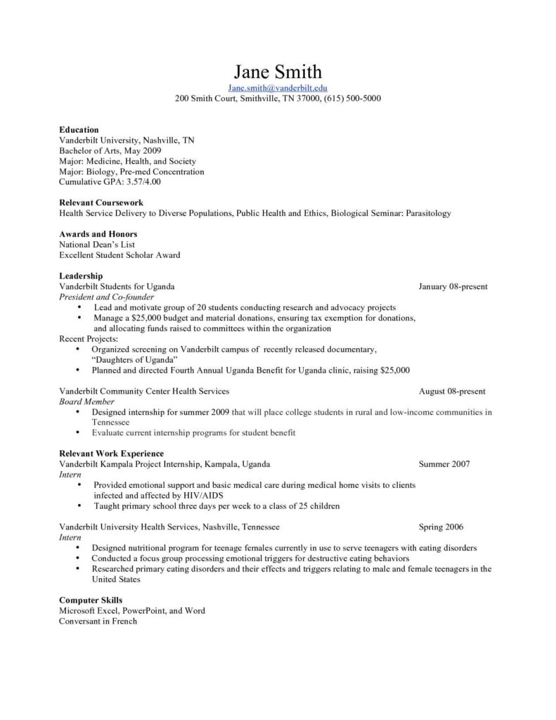 Event Planning Invoice Template and Resume Template 11 Cv Templates for Fresh Graduates event
