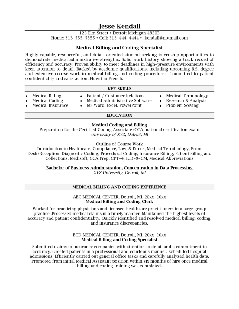 Example Of Medical Billing and Coding and Sweet Looking Medical Coding Resume Samples 14 Medical Billing and
