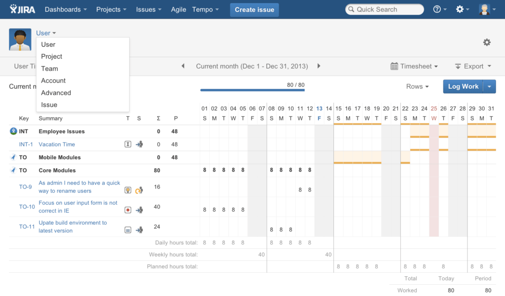 Examples Of Time Sheets and Tempo Timesheets New Look the Tempo Blog the Tempo Blog
