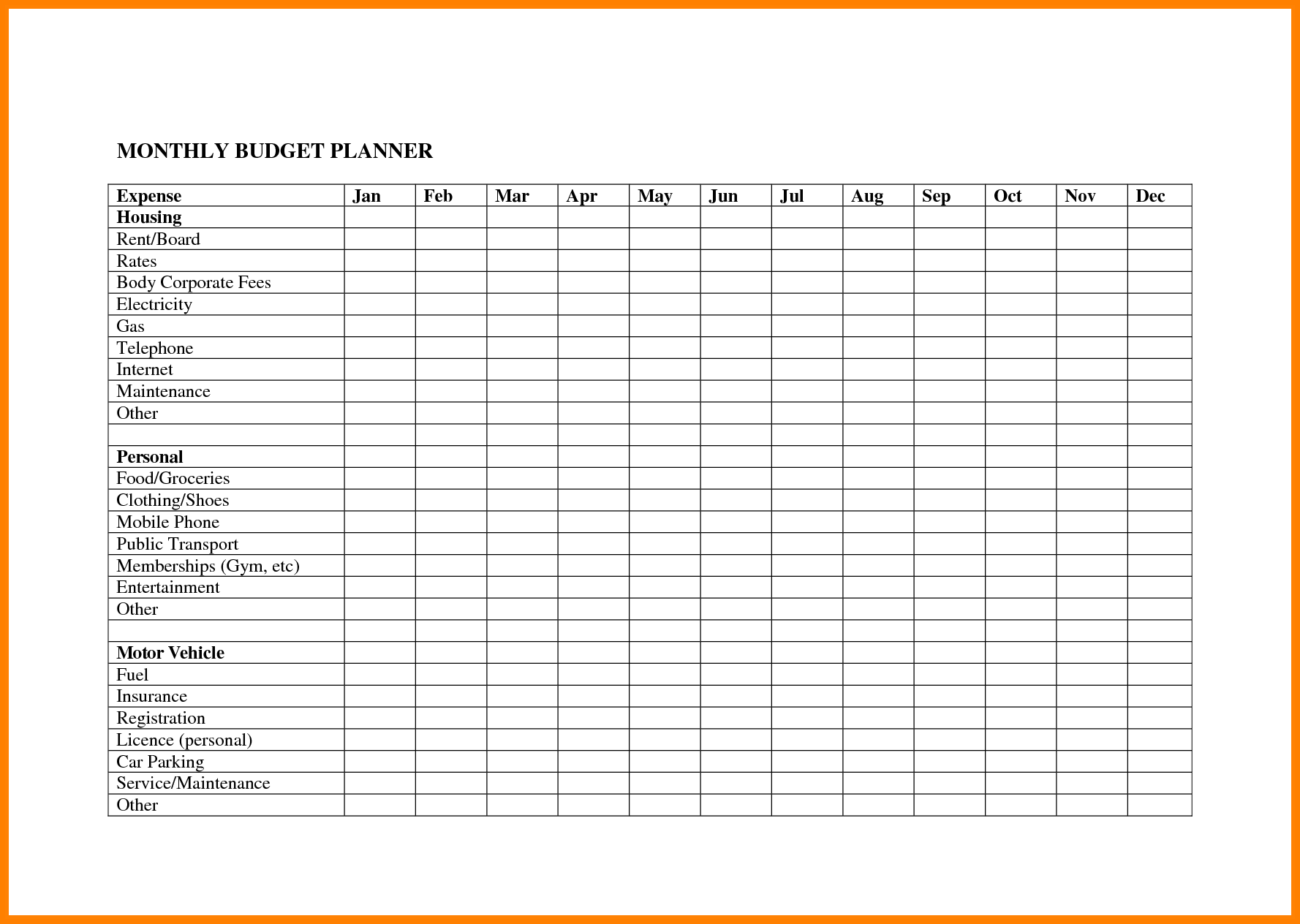Excel Spreadsheet for Bills Template and 100 Monthly Bud S Templates Quarterly Bud Template