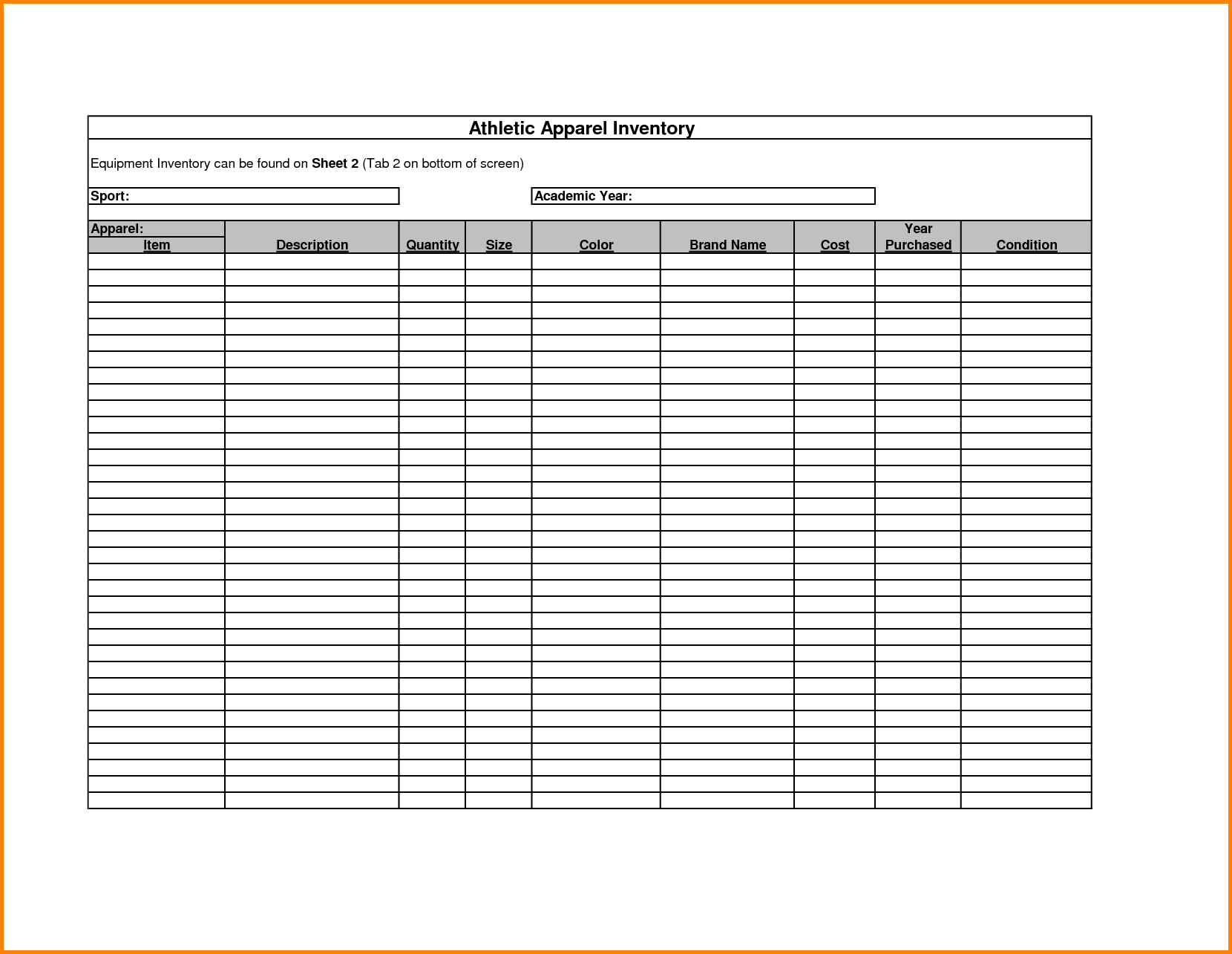 Excel Spreadsheet Inventory Management and Retail Inventory Spreadsheet Template and Free Printable Inventory
