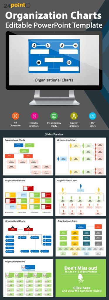 Excel Templates organizational Chart Free Download and Editable Powerpoint Template organization Charts Integrate This