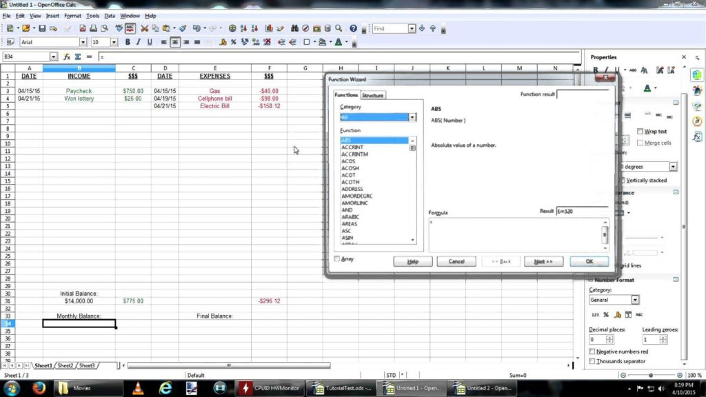 Financial Budget Spreadsheet and How to Create A Bud Spreadsheet with Open Office Youtube