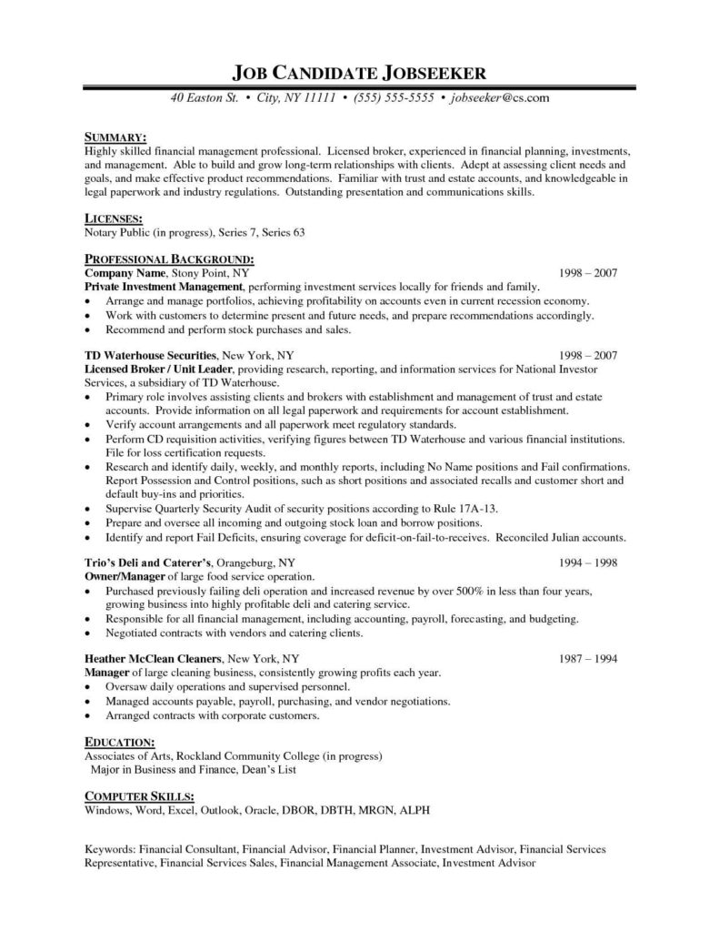 Financial Planning Report Template and Financial Advisor Resume Template Design