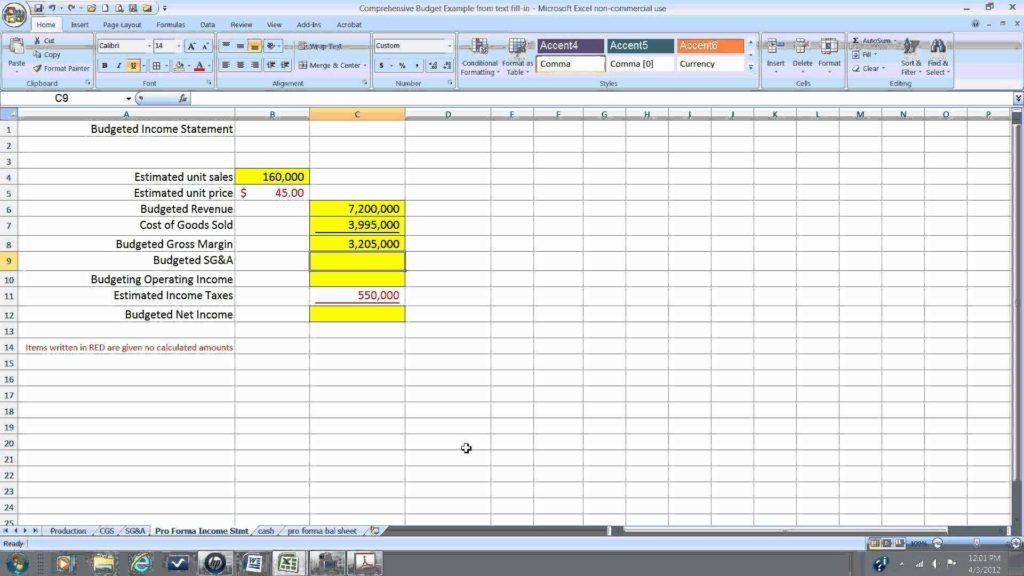 Financial Statement Worksheet Template and Pro forma In E Statement Wmv Youtube