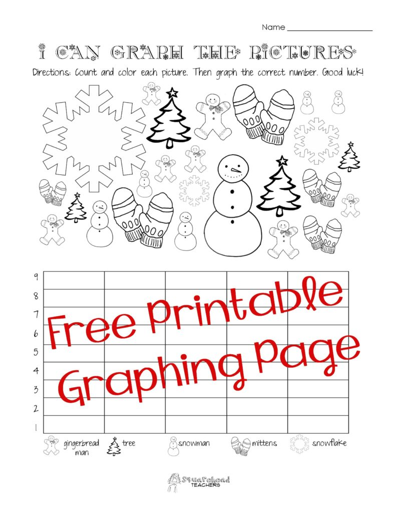 First Grade Math Test Worksheets and Free Christmas Winter Graphing Worksheet Kindergarten First