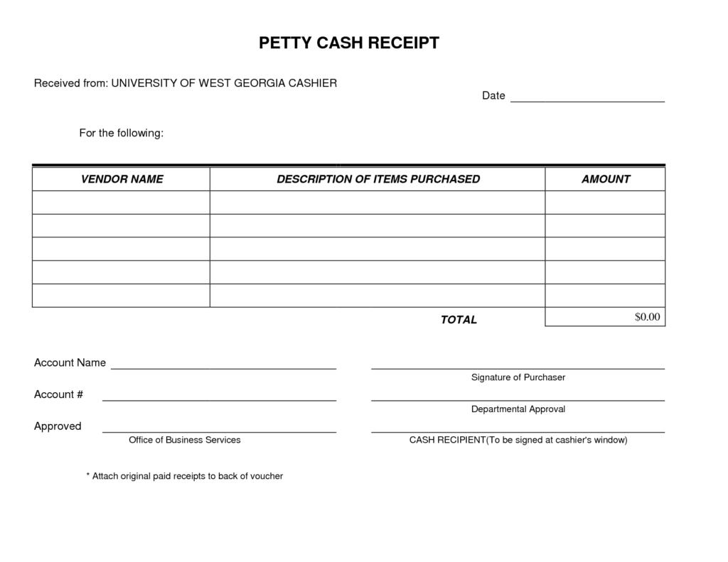Florist Invoice Template and Petty Cash Receipt form Template Very Simple and Easy to Print I