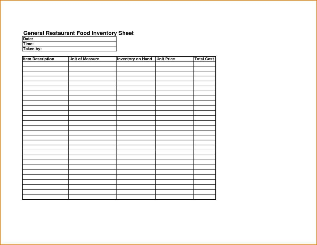 Food Cost Spreadsheet Free and Food Cost Inventory Spreadsheet Laobingkaisuo