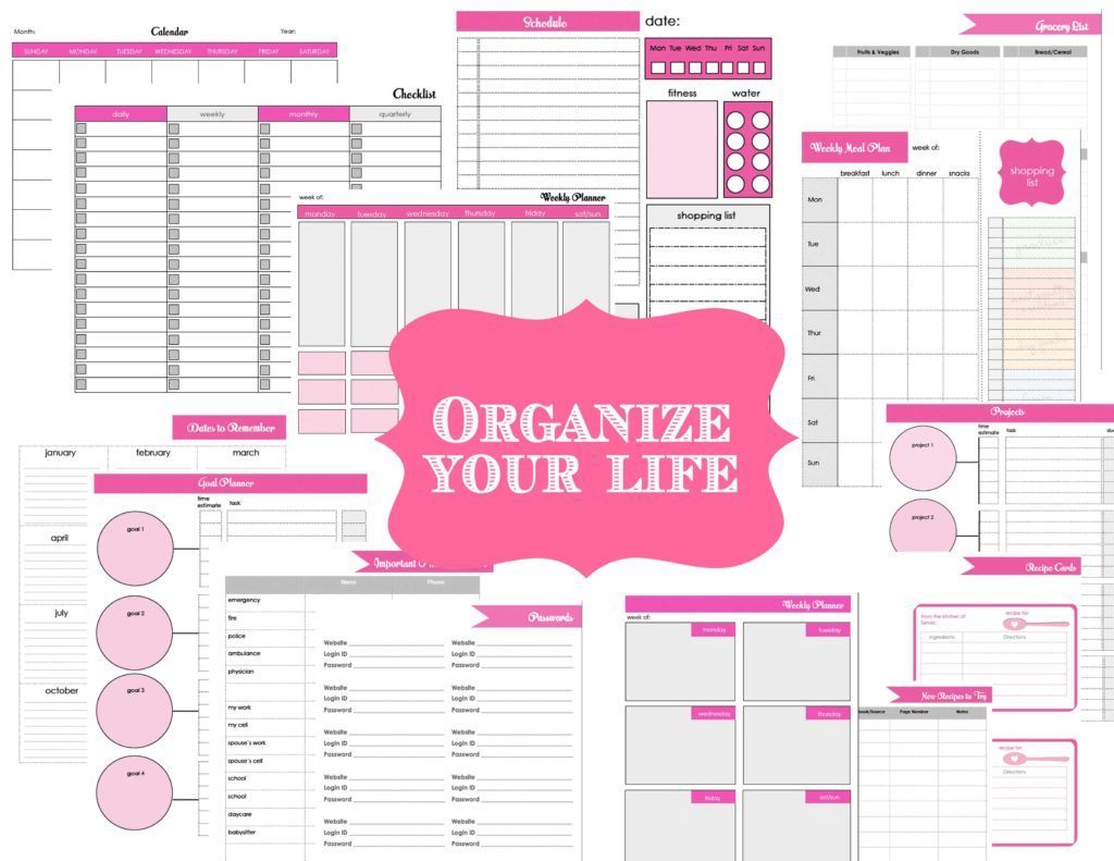 Free Bill Paying organizer Template and organized organizer Printable Sheets to Do List Daily