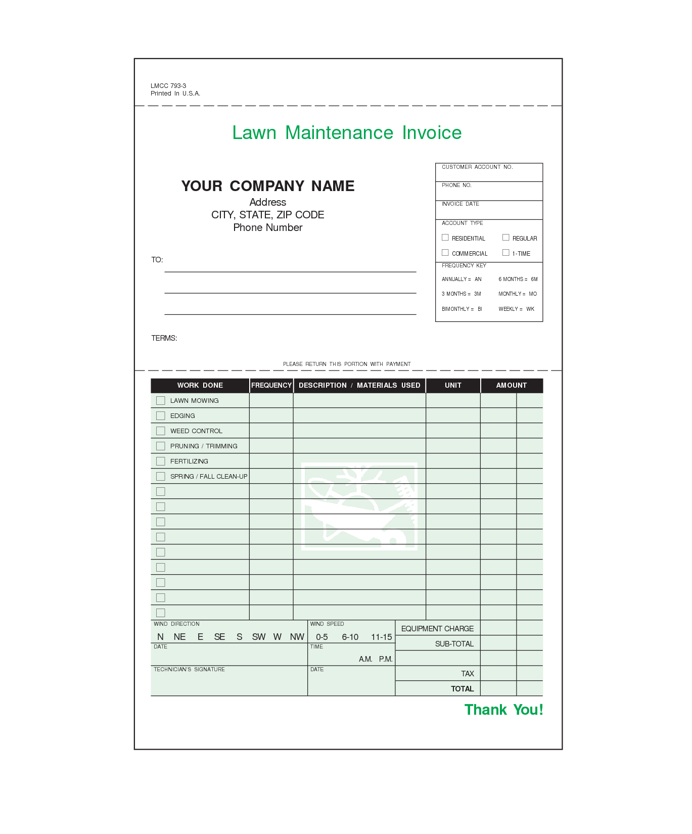 Free Billing Statement Template and Lawn Care Invoice Template Word Invoice Example