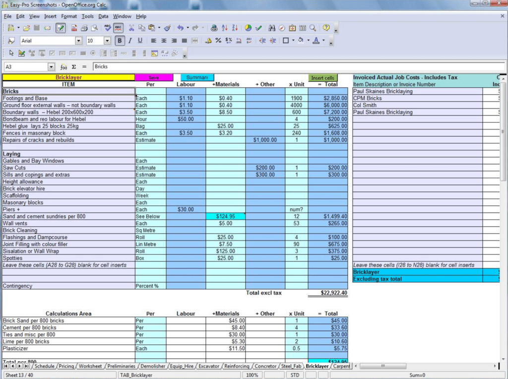 Free Construction Schedule Template Excel and 7 Free Construction Estimating software Products