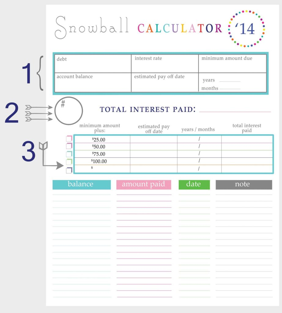 Free Debt Reduction Spreadsheet and Debt Reduction Spreadsheet Free and Blank Debt Reduction