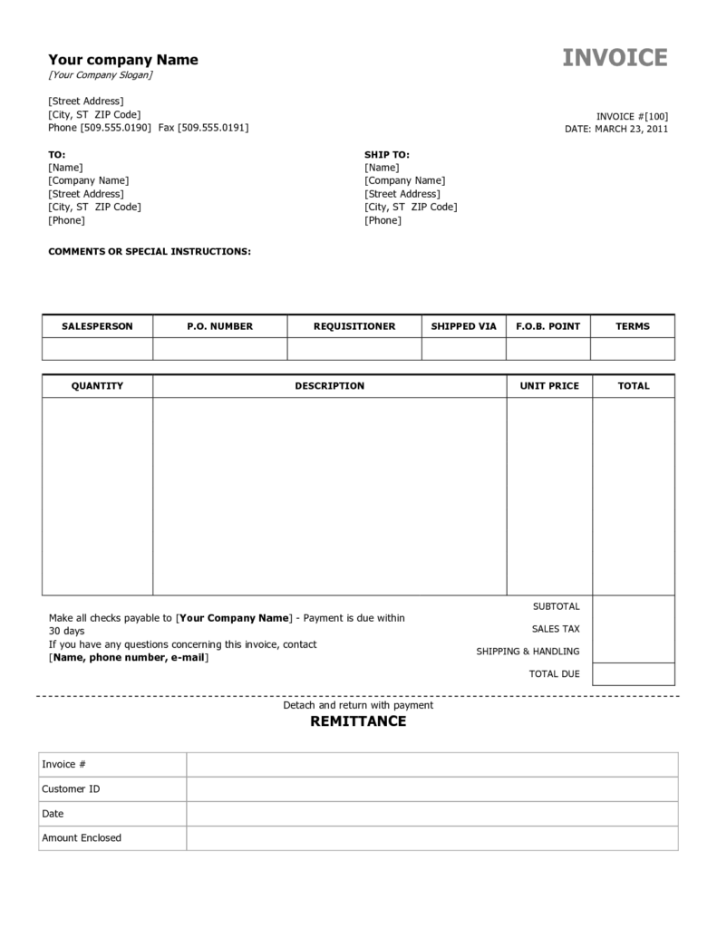 Free Download Of Invoice Template and Simple Invoice Template Free to Do List