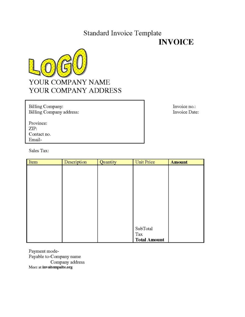 Free Downloadable Invoice Template and Free Invoice Template S Invoice Template Free 2016 Free