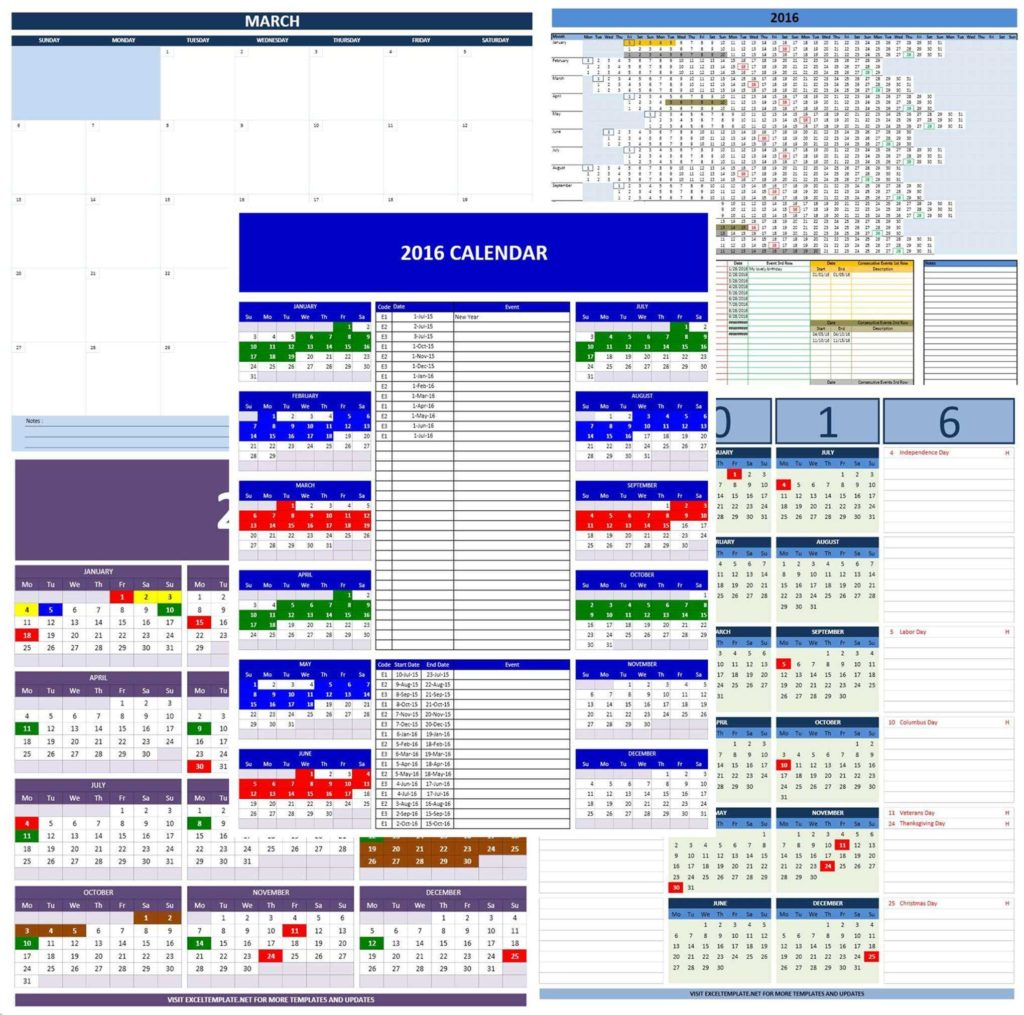 Free Excel Templates for Inventory Management and 2016 Calendars Excel Templates