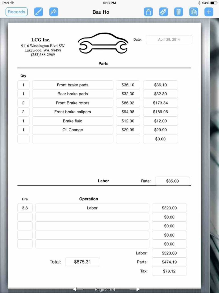 Free Hvac Invoice Template and 100 Open Office Invoice Template Small Business Invoice
