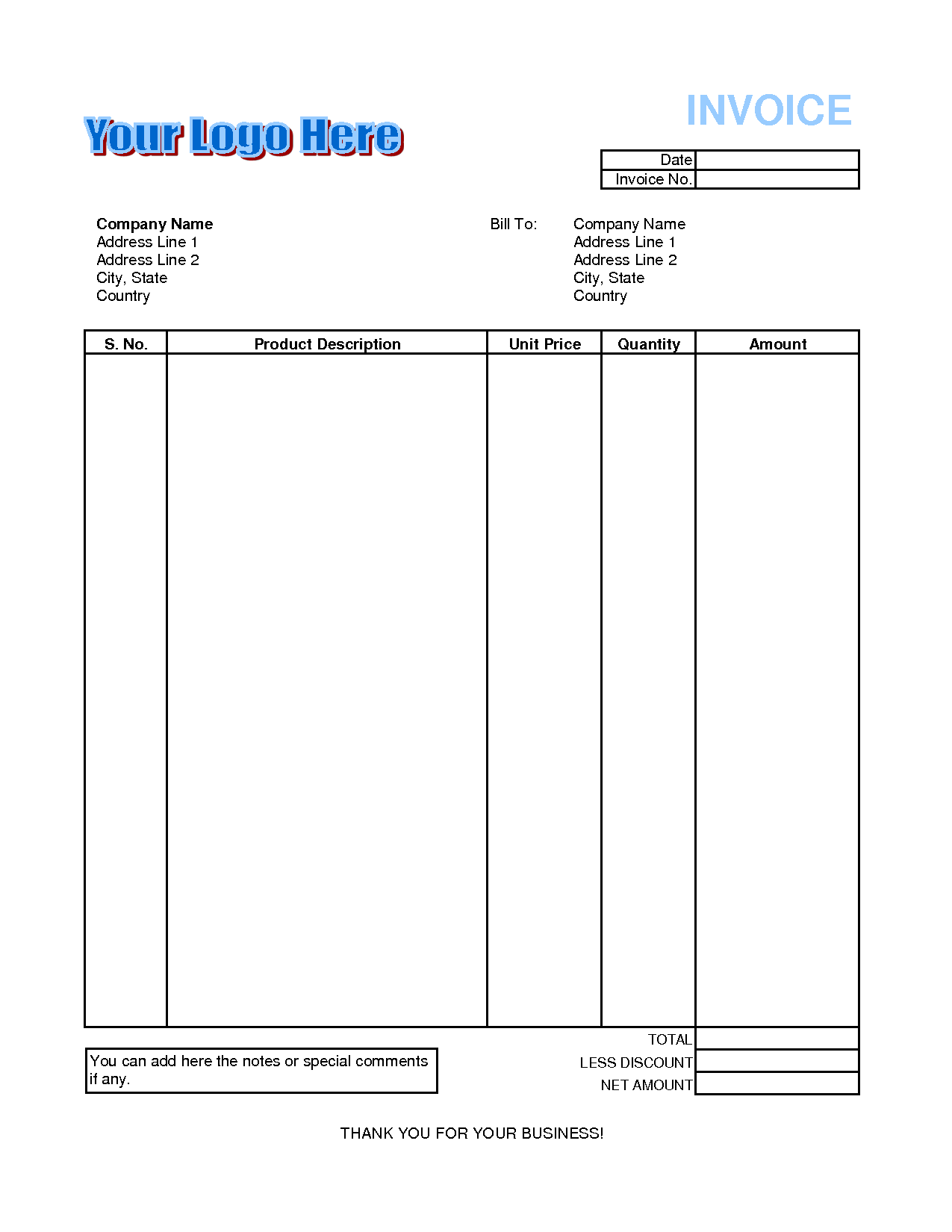 Free Invoice Template with Logo and How to format An Invoice Free Invoice Template