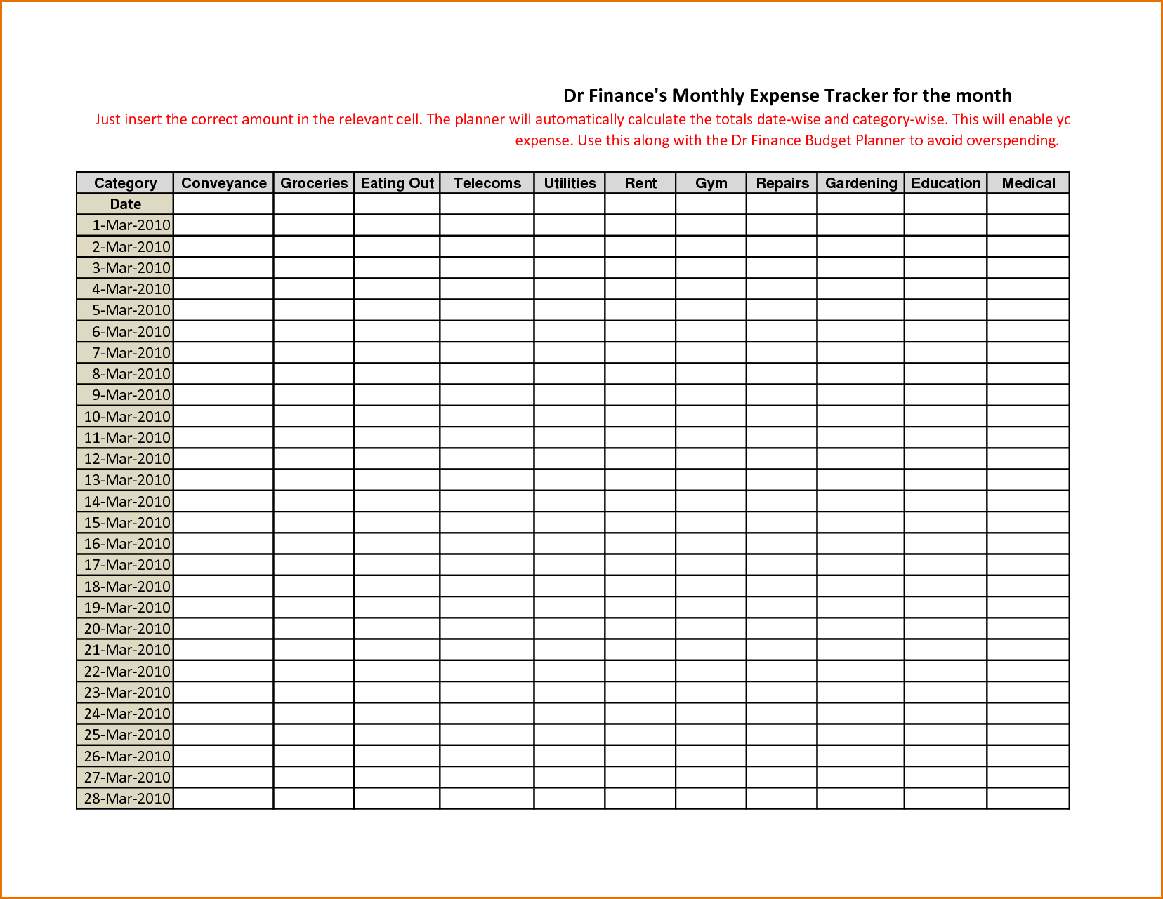 Free Monthly Expense Report Template and 7 Monthly Expense Report Job Resumes Word