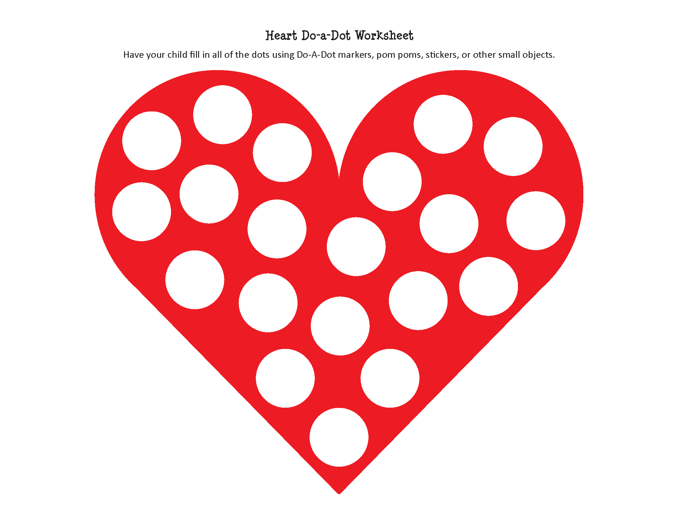 Free Printable Preschool Worksheets Age 4 and Heart Do A Dot Worksheet Free Printable T Of Curiosity