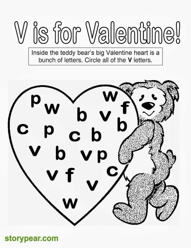 Free Printable Preschool Worksheets Age 4 and Story Pear Free Valentine Day S Printable Sheets for Preschoolers