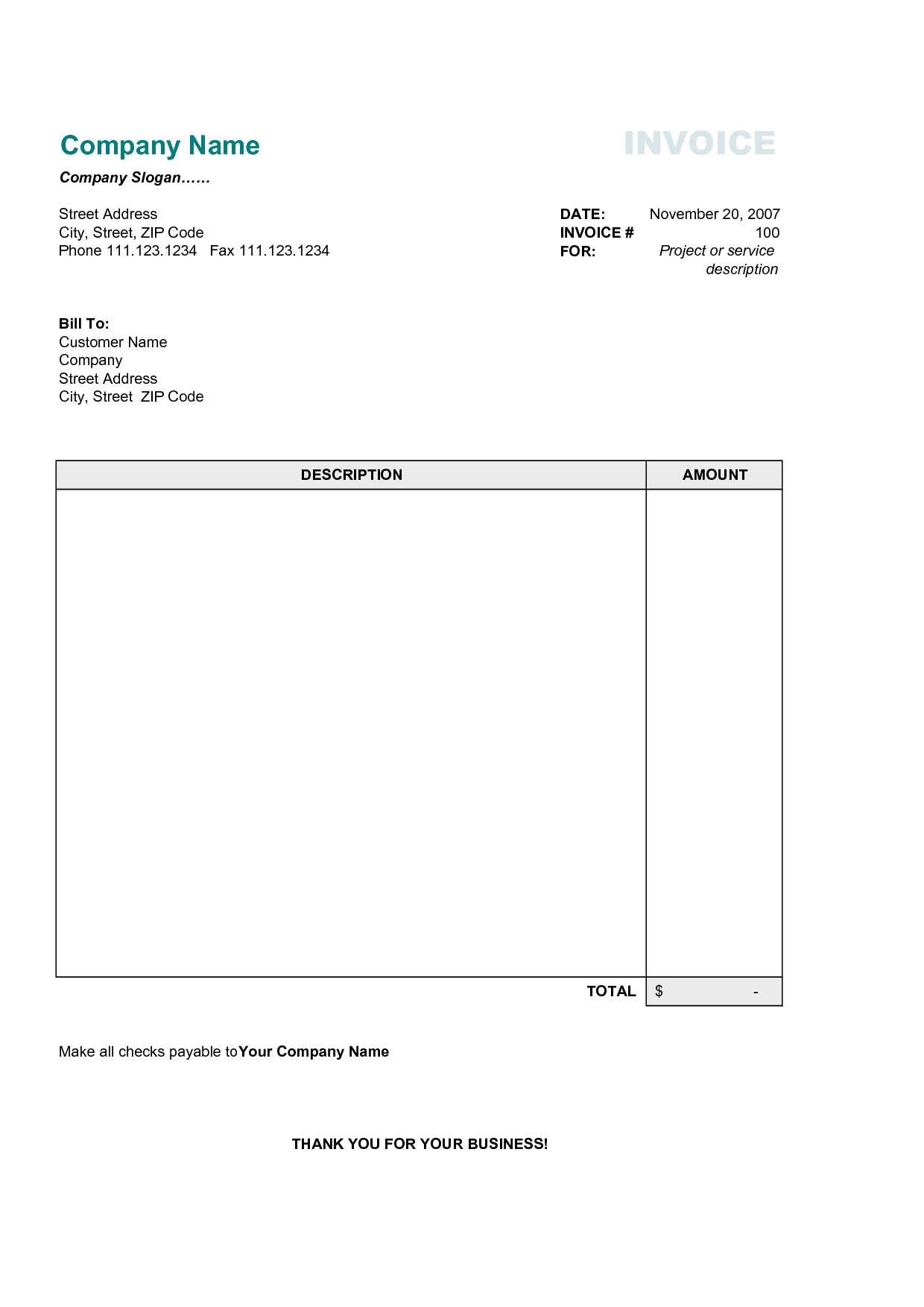 Free Sample Invoice Templates and Invoice Template Free Printable Animal Caretaker Cover Letter