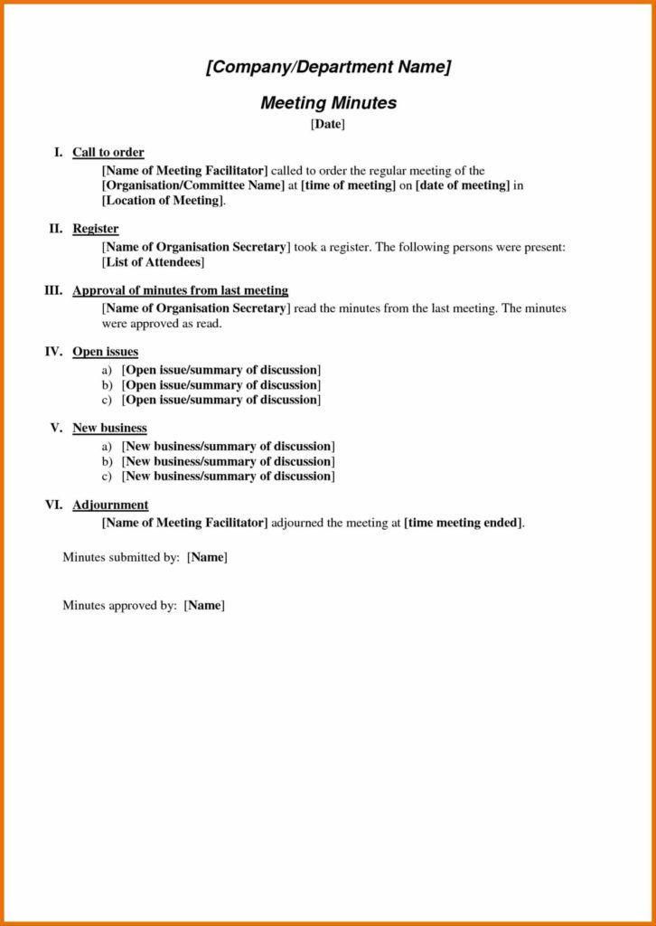 Free Sample Of Invoice and Minutes Sample Meeting Notes Template format for Meeting Shipping