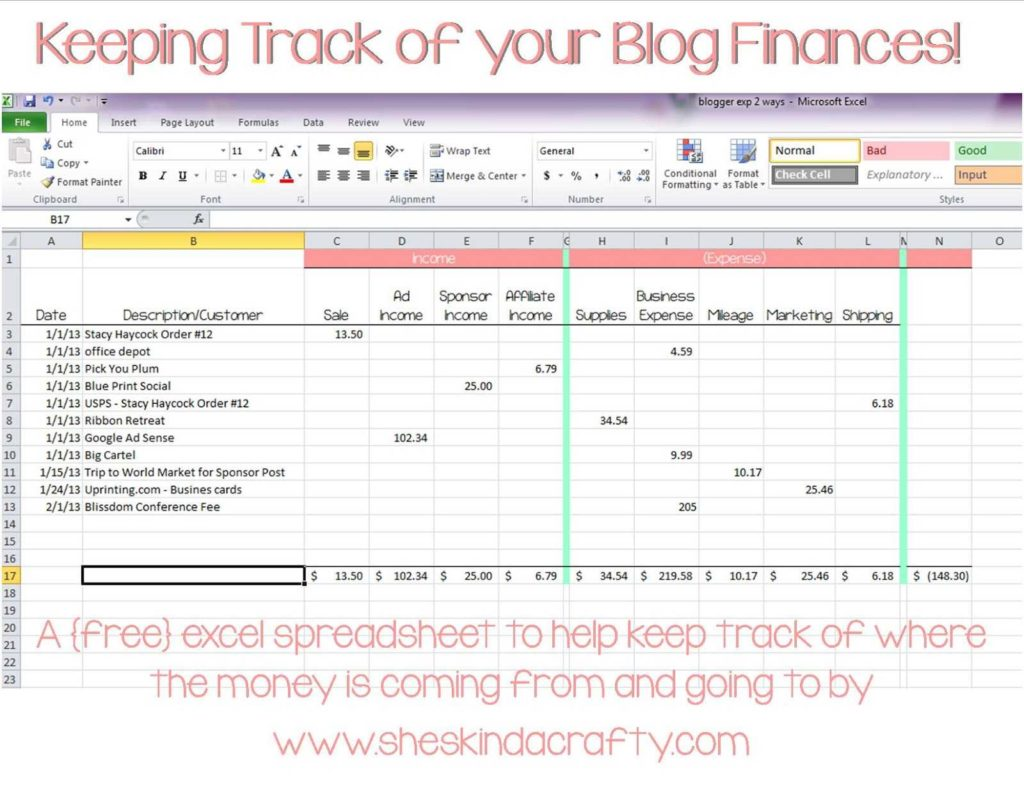 Free Simple Bookkeeping Spreadsheet and Excel Contact List Template Expense Tracking Spreadsheet Template