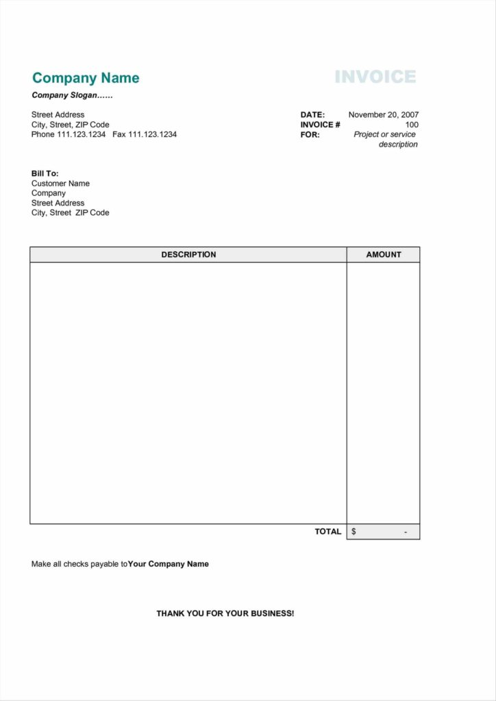 Funeral Bill Template and Template In Word 2007 How to Create An Invoice Template In Word