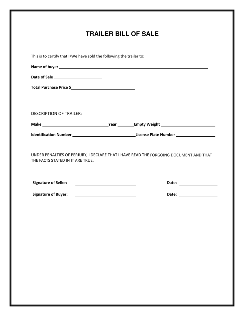 Generic Bill Of Sale Template and Blank Simple Printable Bill Of Sale form Template Pdf Firearm