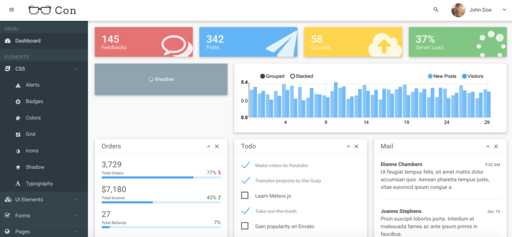 Google Analytics Excel Dashboard Template and these Material Design Templates Will Make Your Admin Dashboard Pretty