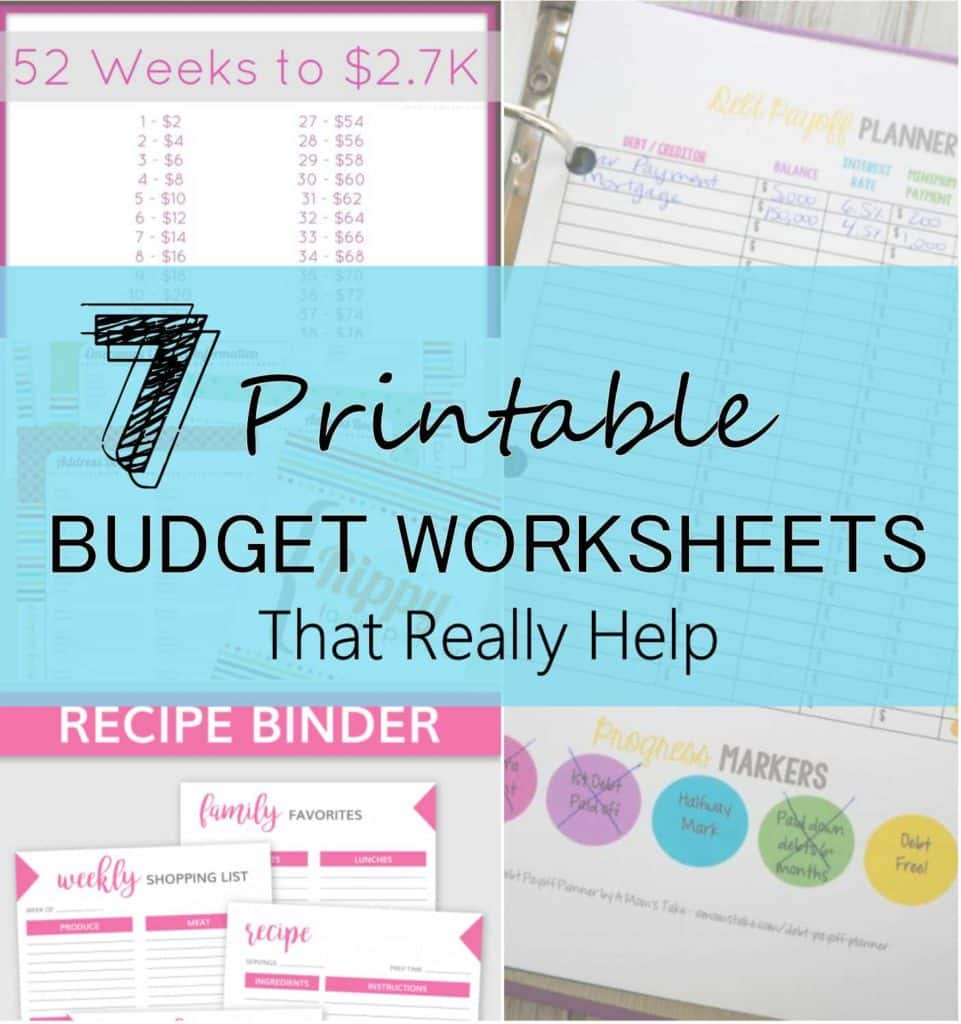 Help with Budgeting Worksheets and 7 Printable Bud Worksheets that Really Help Six Feet Under Blog