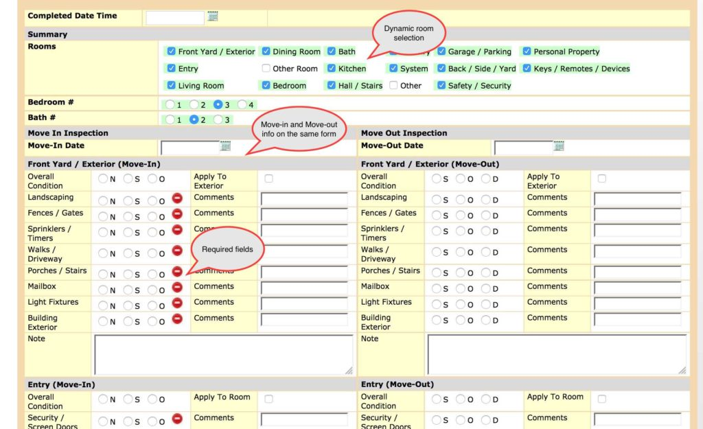 Home Inspection Report Template and Ezinspections Sample Inspection forms Inspection Checklists and