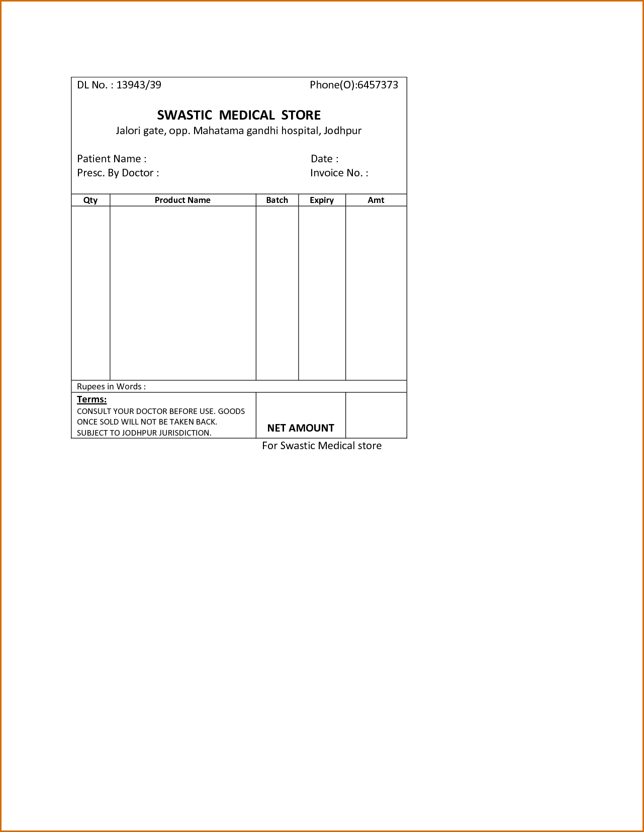 Hospital Invoice Template and 8 Medical Bill Template Authorizationletters